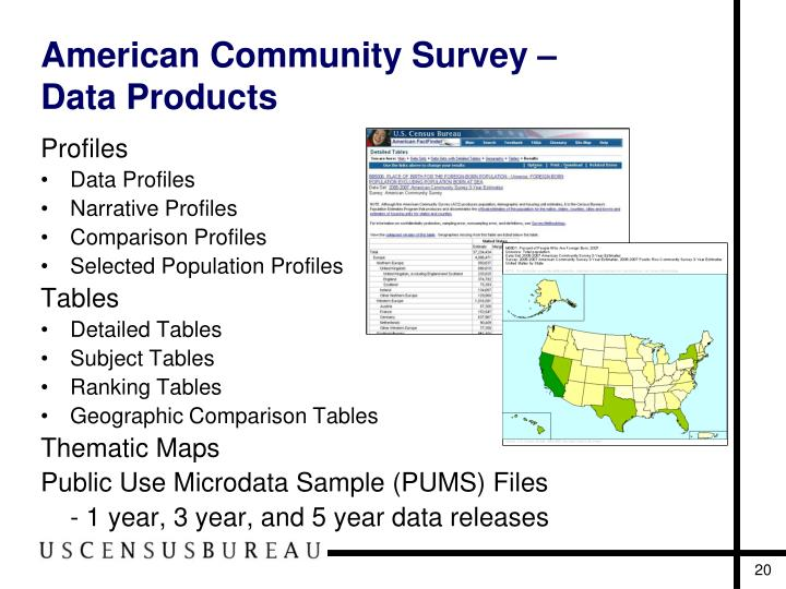 american community survey I met up with an old grad school friend a few weeks back he's an accomplished professor of demography, basically the statistical study of populations, partic.