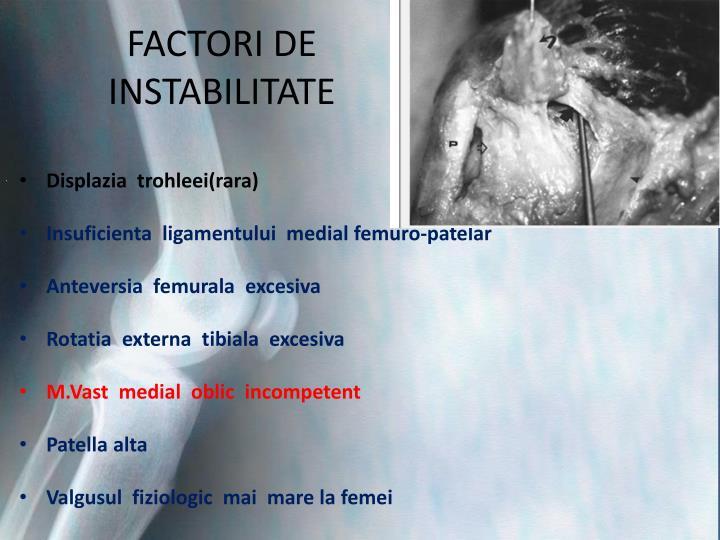 FACTORI DE INSTABILITATE