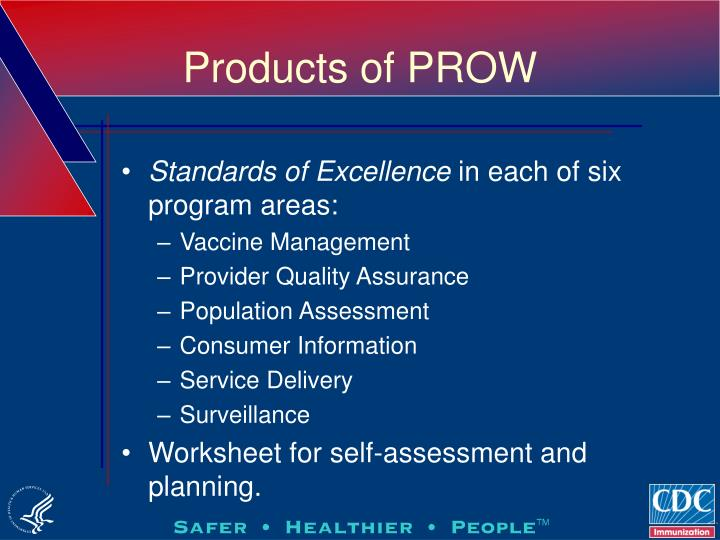 Products of PROW