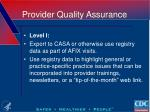 provider quality assurance1