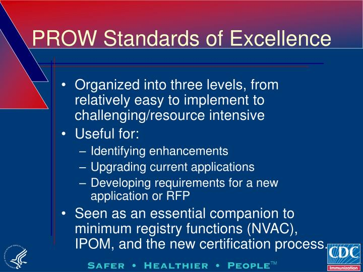 PROW Standards of Excellence