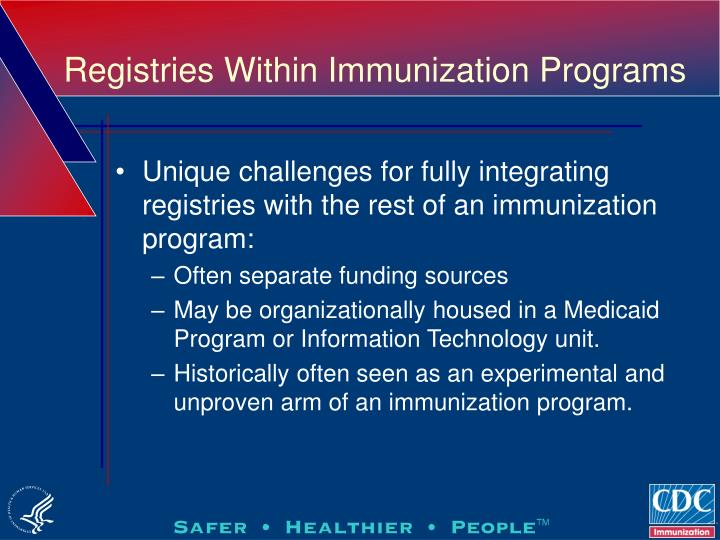 Registries Within Immunization Programs