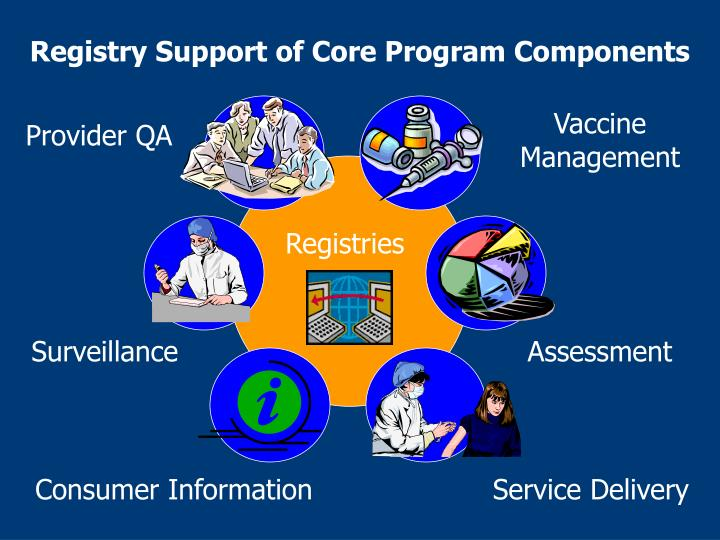 Registry Support of Core Program Components