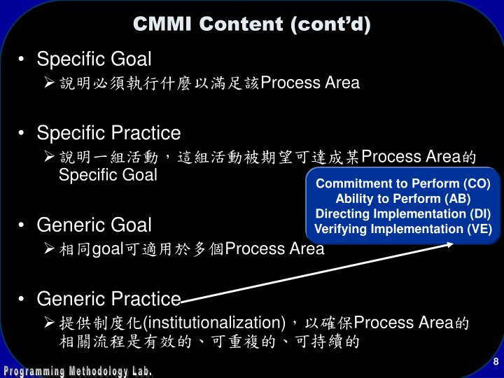 Commitment to Perform (CO)