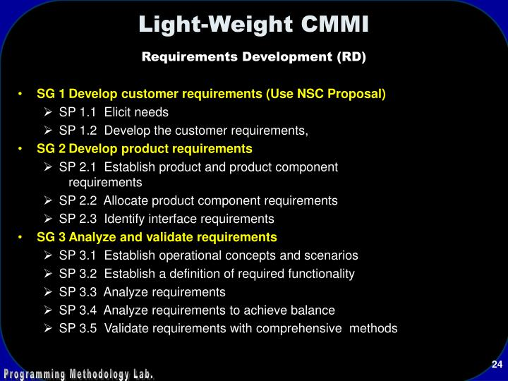 Light-Weight CMMI