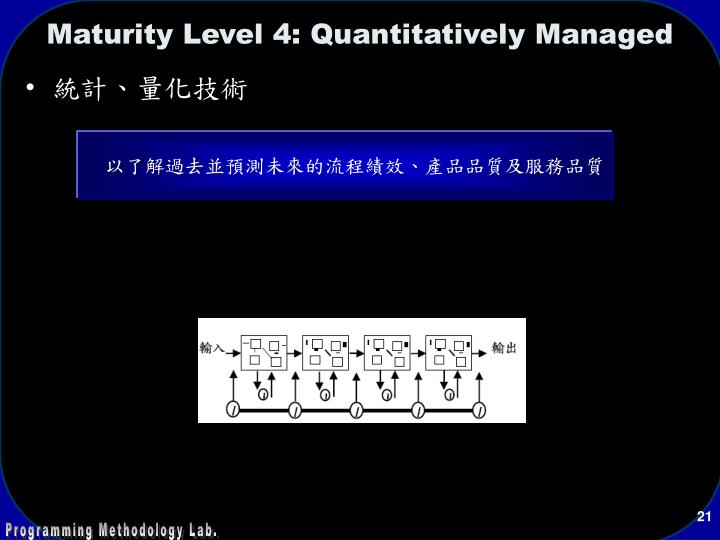 Maturity Level 4: Quantitatively Managed