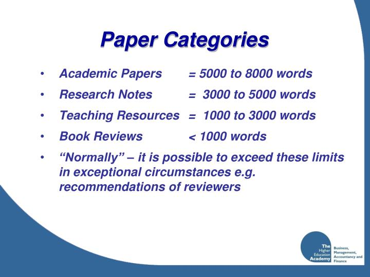 Paper Categories