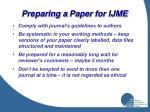 preparing a paper for ijme