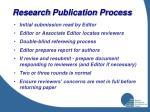 research publication process