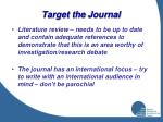 target the journal