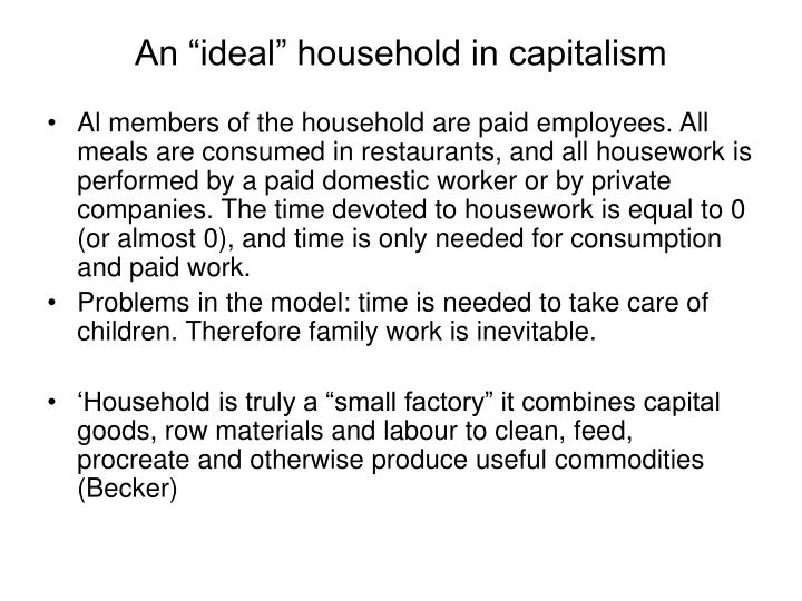 "An ""ideal"" household in capitalism"