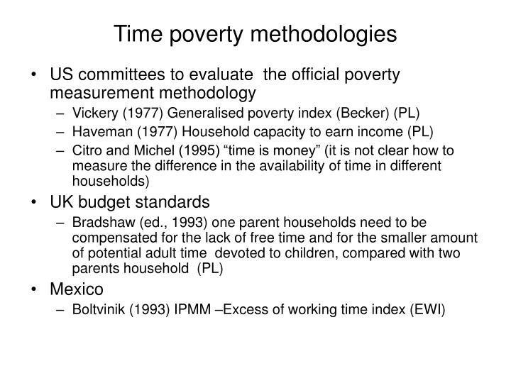 Time poverty methodologies