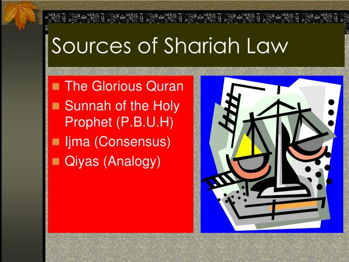 Sources of Shariah Law