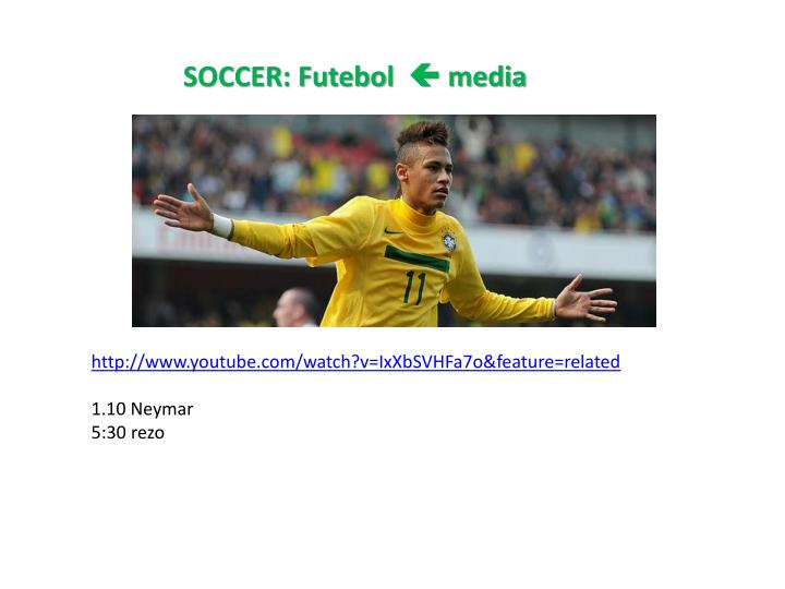 SOCCER: Futebol