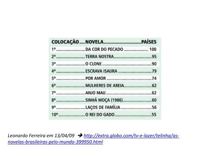 Leonardo Ferreira em 13/04/09