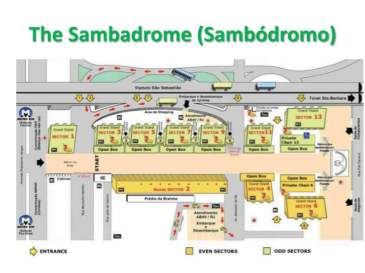 The Sambadrome (Sambódromo)