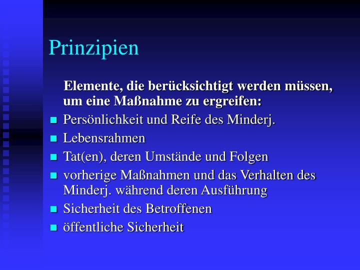 Prinzipien
