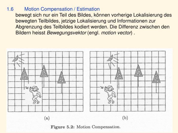 1.6 Motion Compensation / Estimation