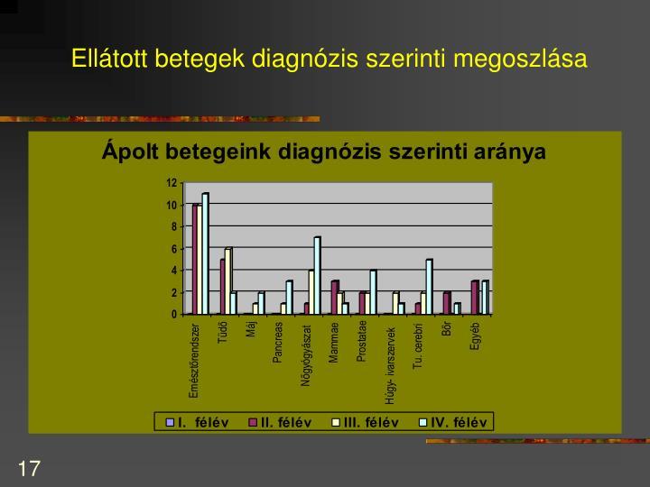 Ellátott betegek diagnózis szerinti megoszlása