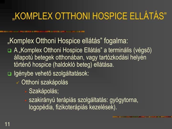 """""""KOMPLEX OTTHONI HOSPICE ELLÁTÁS"""""""