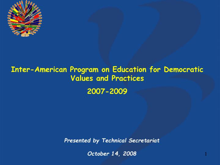 Inter-American Program on Education for Democratic Values and Practices