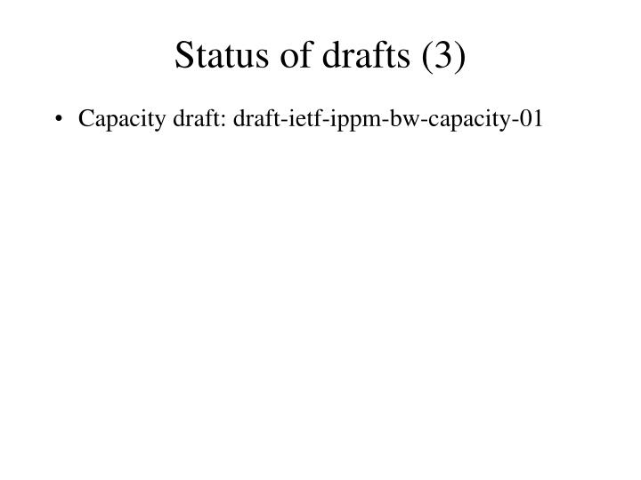 Status of drafts (3)
