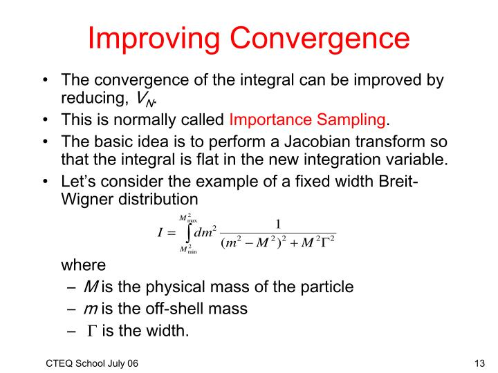 Improving Convergence
