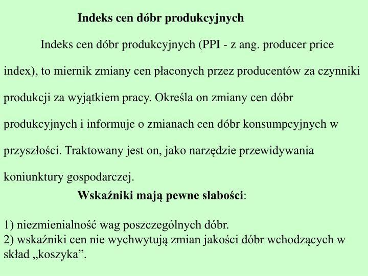 Indeks cen dóbr produkcyjnych