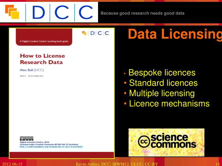Data Licensing