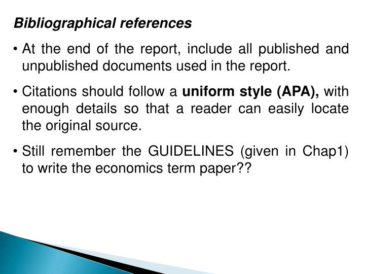 Bibliographical references