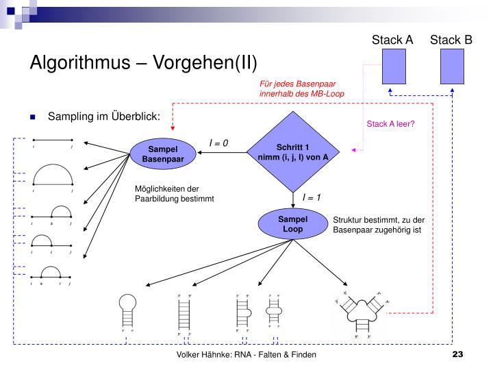 Algorithmus – Vorgehen(II)