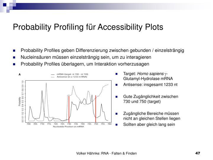 Probability Profiling für Accessibility Plots