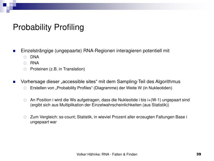 Probability Profiling
