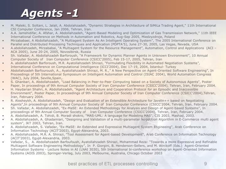 Agents -1