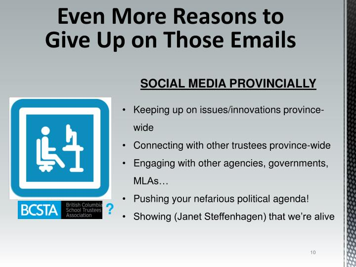 Even More Reasons to Give Up on Those Emails
