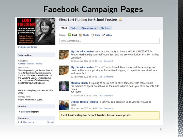 Facebook Campaign Pages