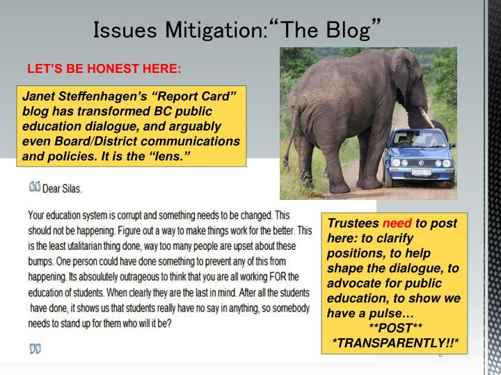 "Issues Mitigation:""The Blog"""