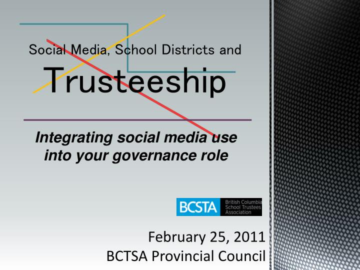 Social media school districts and trusteeship