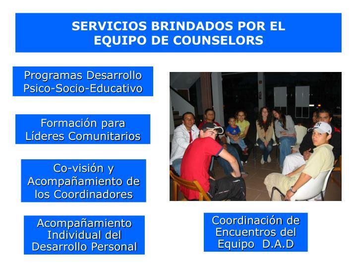 SERVICIOS BRINDADOS POR EL