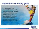 search for the holy grail