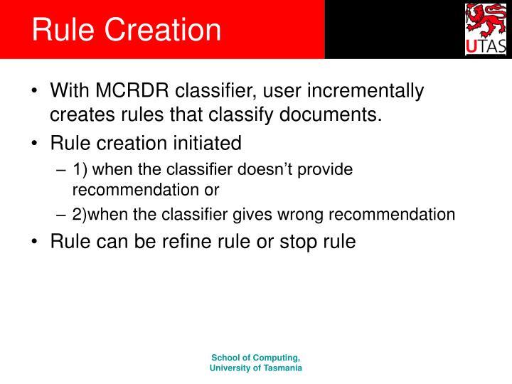 Rule Creation