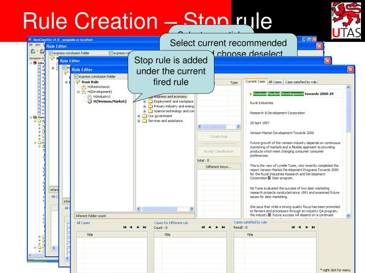 Rule Creation – Stop rule