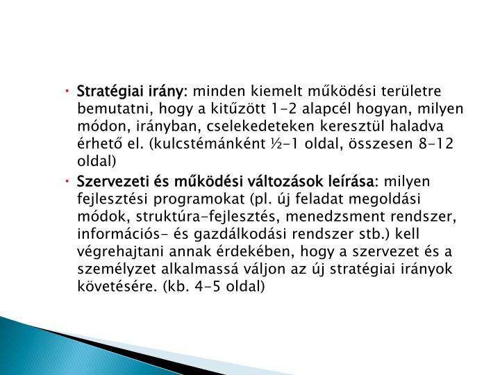 Stratégiai irány:
