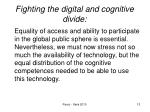 fighting the digital and cognitive divide