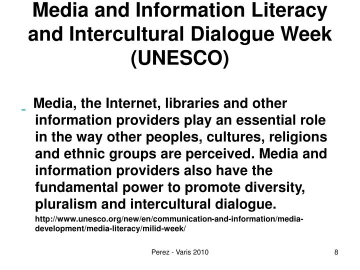Media and Information Literacy and Intercultural Dialogue Week