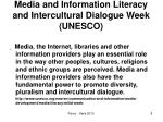 media and information literacy and intercultural dialogue week unesco