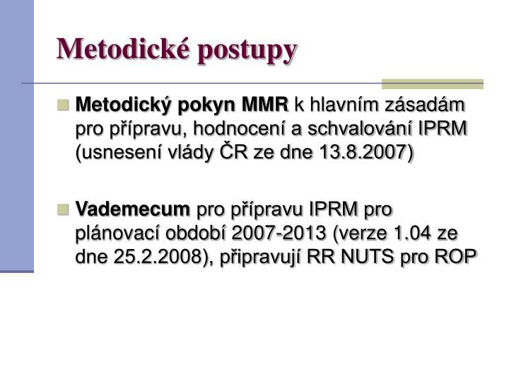 Metodické postupy
