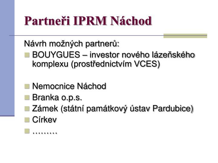 Partneři IPRM Náchod