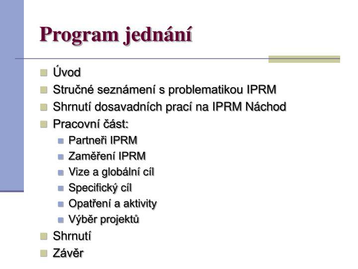 Program jednání