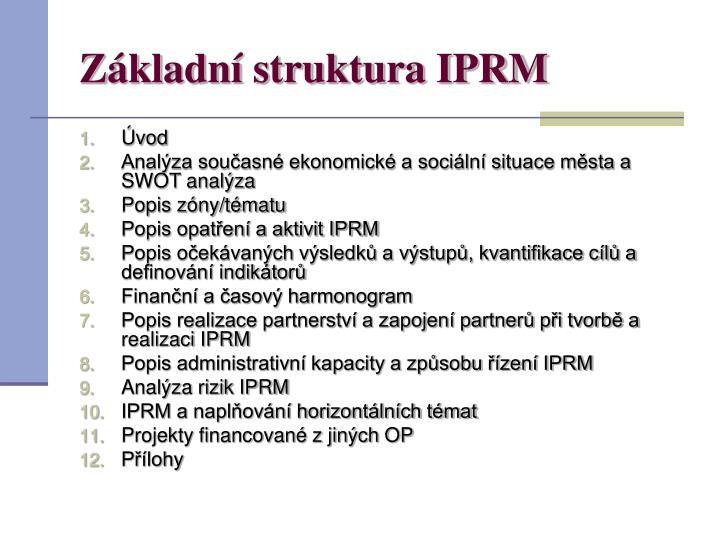 Základní struktura IPRM